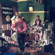 The Mangledwurzels rocking the joint at the Moorfield Inn, Bath (10 Nov 2006)