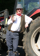 Jethro Tool with tractor at Wellow Trekking Centre