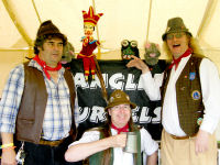 The Mangledwurzels join in the Punch & Judy Show at the Castle Cary Cavalcade Of Motoring (13th July 2008)