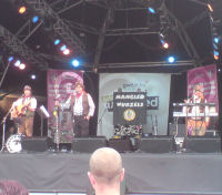 The Mangledwurzels performing on stage at the EDF Energy Bristol Harbour Festival (2 Aug 2008)