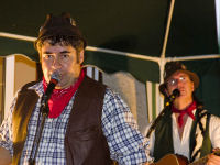 Hedge and Seth in full flow at Pete & Bex's wedding reception in Bitton (18/8/7)
